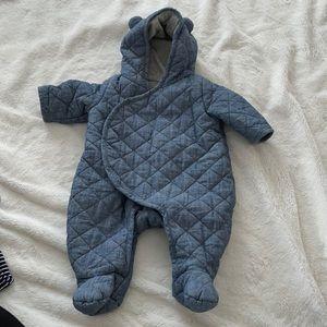 Quilted onesie
